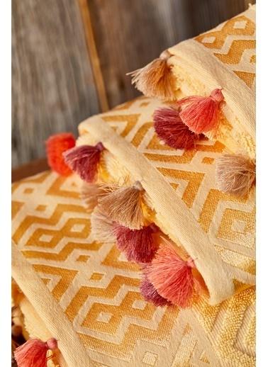 Bella Maison %100 Pamuk Mosaic Sarı Banyo Havlusu (90x150cm) Sarı